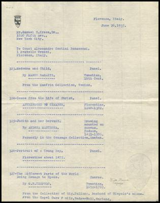 Image for Contini Bonacossi, Alessandro, June 26, 1935
