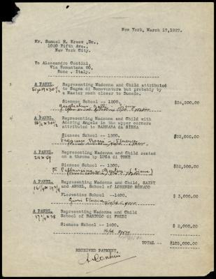 Image for Contini Bonacossi, Alessandro, March 17, 1927