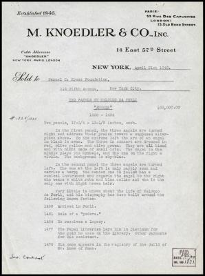 Image for M. Knoedler & Co., April 21, 1942