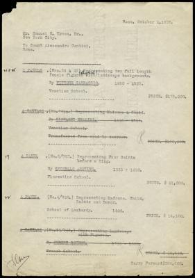 Image for Contini Bonacossi, Alessandro, October 2, 1928