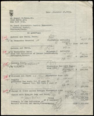 Image for Contini Bonacossi, Alessandro, December 27, 1933 [1]