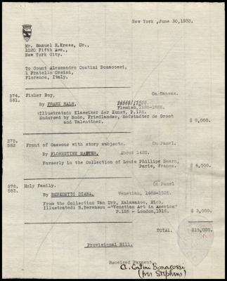 Image for Contini Bonacossi, Alessandro, June 30, 1933