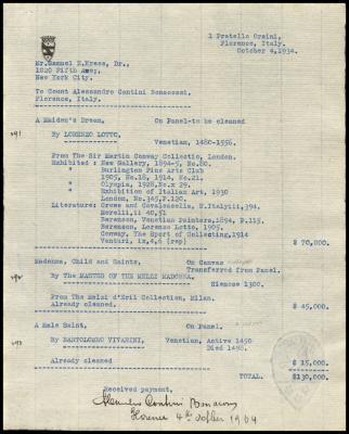 Image for Contini Bonacossi, Alessandro, October 4, 1934 [1]