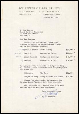 Image for Schaeffer Galleries, February 8, 1955
