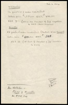 Image for Wildenstein and Company, December 31, 1942