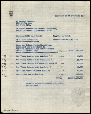 Image for Contini Bonacossi, Alessandro, February 12, 1934