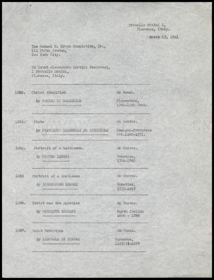 Image for Contini Bonacossi, Alessandro, March 13, 1941 [1]