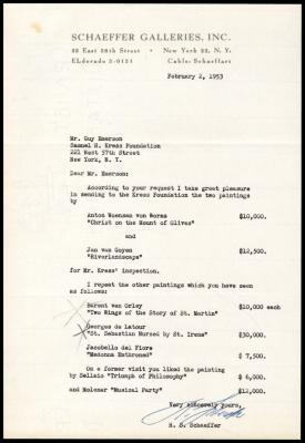 Image for Schaeffer Galleries, February 11, 1953