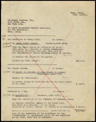 Image for Contini Bonacossi, Alessandro, July 29, 1932