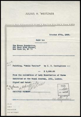 Image for Weitzner, Julius, October 27, 1952