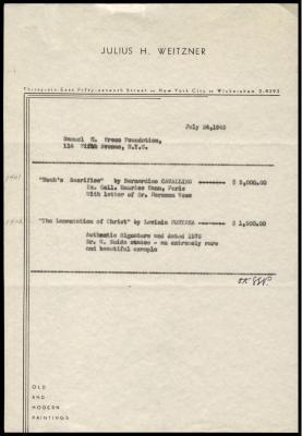 Image for Weitzner, Julius, July 24, 1945
