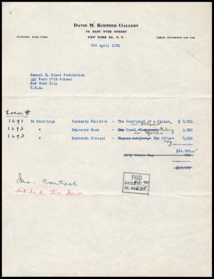 Image for David Koetser Gallery, April 3, 1950