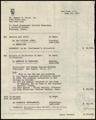 Image for Contini Bonacossi, Alessandro, June 18, 1937