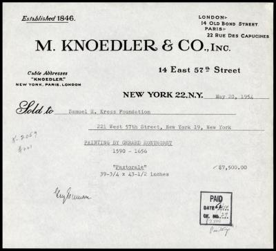 Image for M. Knoedler & Co., May 20, 1954