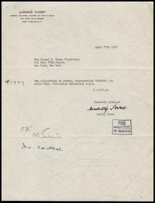 Image for Furst, Ludwig, April 27, 1950