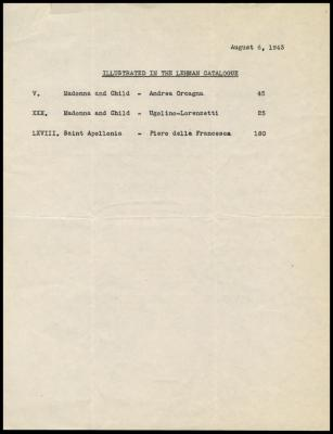Image for Lehman, Robert, September 15, 1943