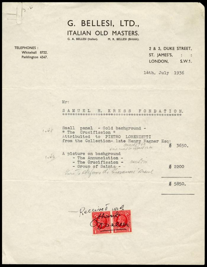 Image for G. Bellesi, Ltd., July 14, 1936