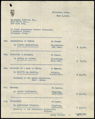 Image for Contini Bonacossi, Alessandro, June 1, 1936 [1]
