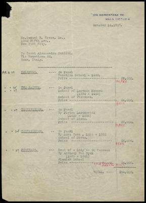 Image for Contini Bonacossi, Alessandro, October 14, 1927
