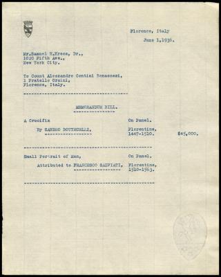 Image for Contini Bonacossi, Alessandro, June 1, 1936 [3]