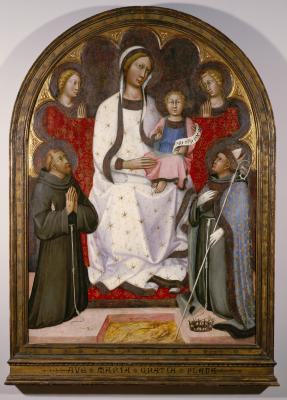 Image for Madonna and Child with Two Angels, Saint Francis and Saint Louis of Toulouse