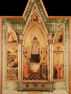 Image for Madonna Surrounded by Saints (The Aldobrandini Triptych)