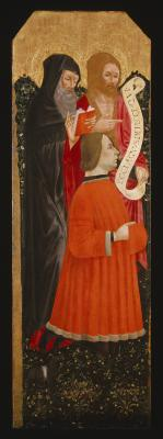 Image for Saints Anthony Abbot and John the Baptist with a Donor