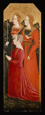 Image for Saints Margaret and Catherine of Alexandria with Donatrix