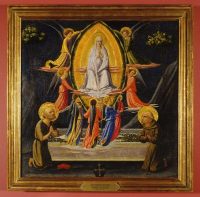 Image for The Assumption of the Virgin with Saint Jerome and Saint Francis