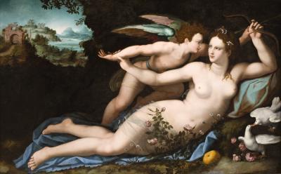 Image for Venus Disarming Cupid