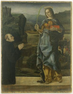 Image for Saint Justina and Donor