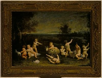 Image for Putti Frolicking with Lambs