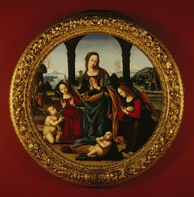 Image for Madonna and Child with Young Saint John The Baptist, Joseph and Angels