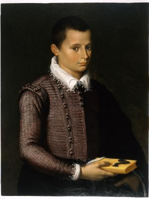 Image for Portrait of a Boy Holding a Book