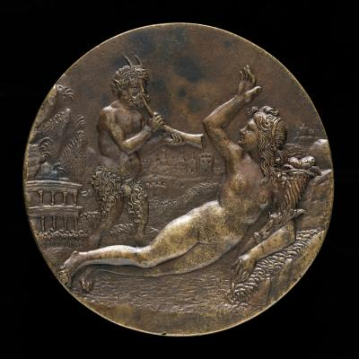 Image for Abundance and a Satyr [obverse]; Sleeping Nymph and Two Satyrs [reverse]