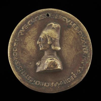Image for Ercole I d'Este, 1431-1505, Duke of Ferrara, Modena, and Reggio 1471 [obverse]; Ercole on Horseback [reverse]