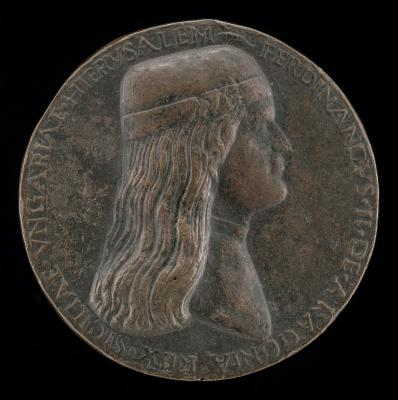 Image for Ferdinand II of Aragon, died 1496, Prince of Capua and King of Naples 1495 [obverse]; Janiform Head [reverse]
