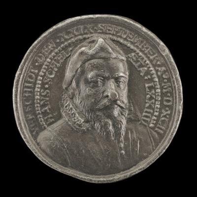 Image for Hans Schel, 1518-1592, Patrician of Nuremberg [obverse]; Arms and Inscription [reverse]