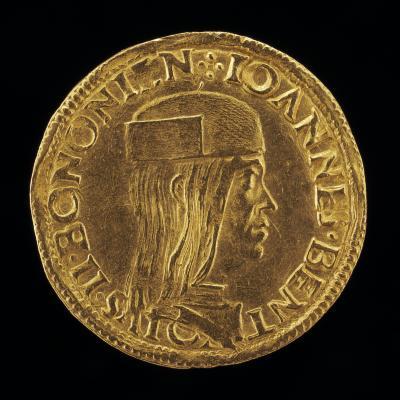 Image for Giovanni II Bentivoglio, 1443-1508, Lord of Bologna 1463-1506 [obverse]; Shield Surmounted by an Eagle [reverse]