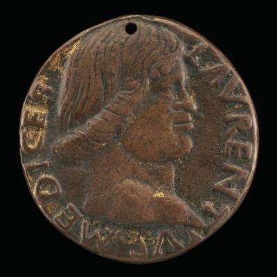 Image for Lorenzo de' Medici, il Magnifico, 1449-1492 [obverse]; Figure in Antique Armor [reverse]