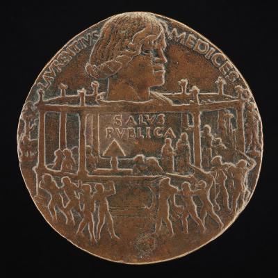 Image for Lorenzo de' Medici, il Magnifico, 1449-1492 (The Pazzi Conspiracy Medal) [obverse]; Giuliano I de' Medici, 1453-1478, and The Pazzi Conspiracy [reverse]