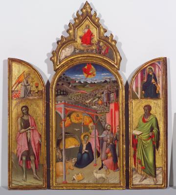 Image for The Adoration of the Shepherds with Saints John the Baptist and Bartholomew