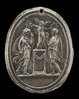 Image for Cupid Crowning Two Lovers