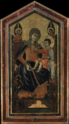 Image for The Virgin and Child Enthroned with Angels