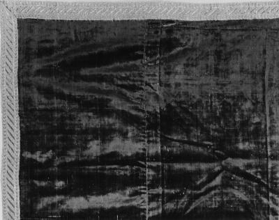 Image for Crimson cut velvet runner trimmed with gold galloon