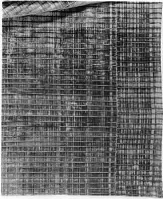 Image for Pile-on-pile out velvet panel of striped crimson