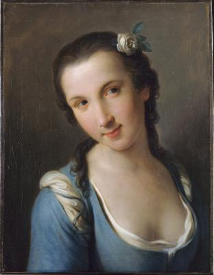 Image for Girl in a Blue Dress, A