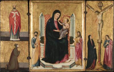 Image for Madonna and Child with Saints and the Crucifixion (Triptych)
