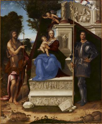 Image for Madonna and Child with Saint John the Baptist and Saint George