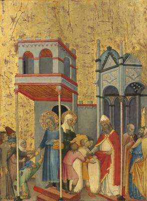 Image for Joachim and Anna Giving Food to the Poor and Offerings to the Temple